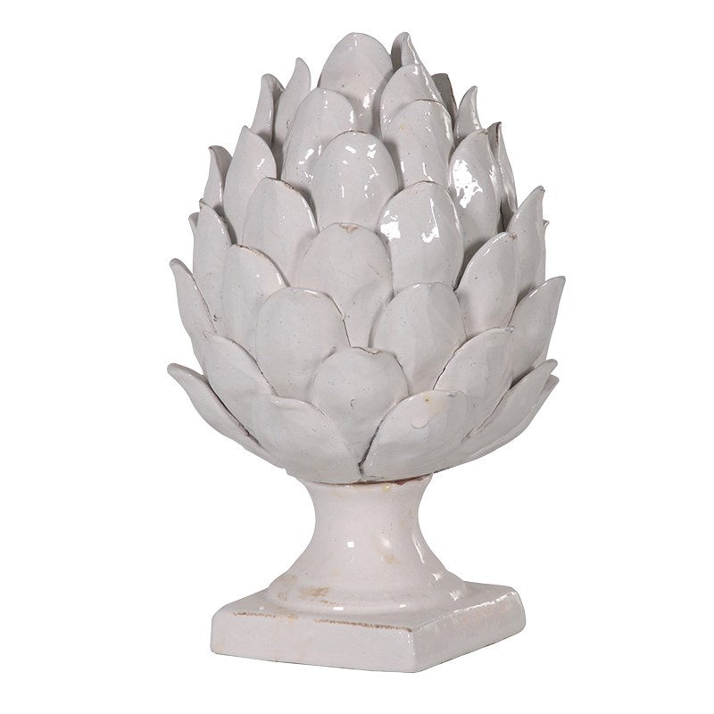 Ceramic artichoke on base