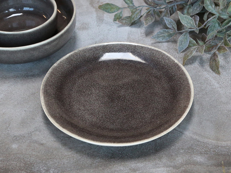 Rustic Glazed Grey Side Plate