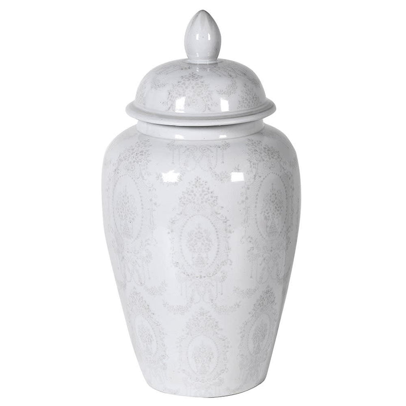 Light Grey Patterned Ginger Jar