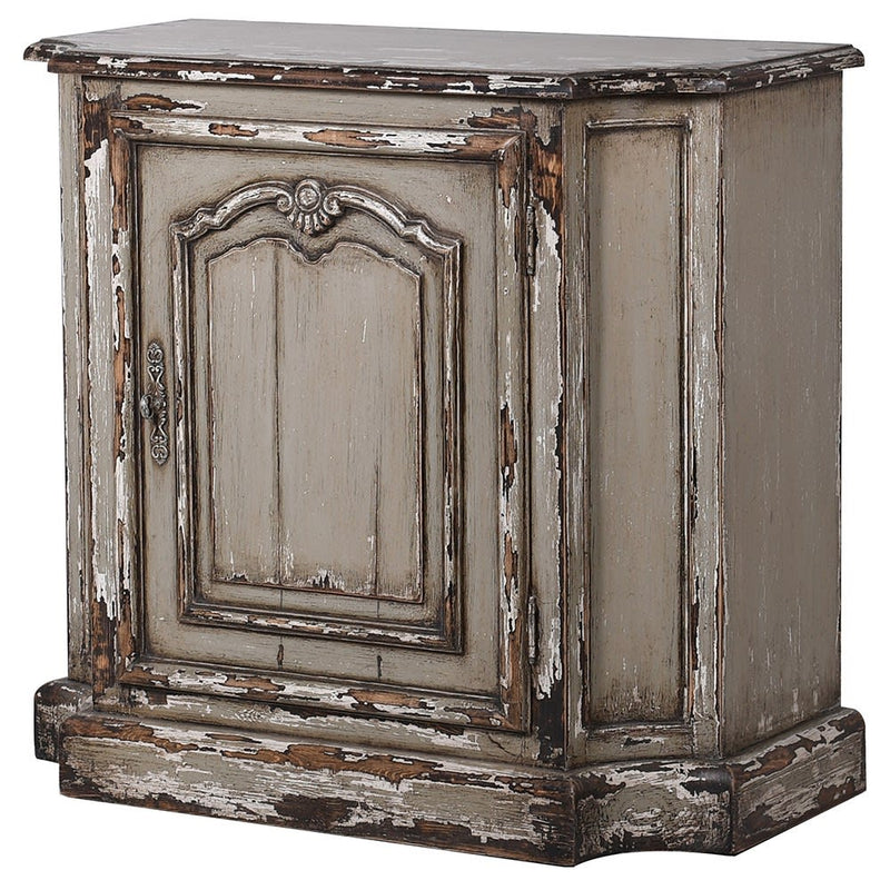 One Door Distressed Cabinet