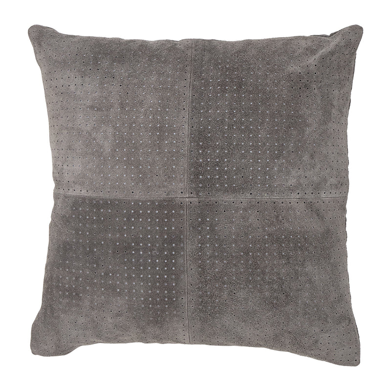 Grey suede cushion