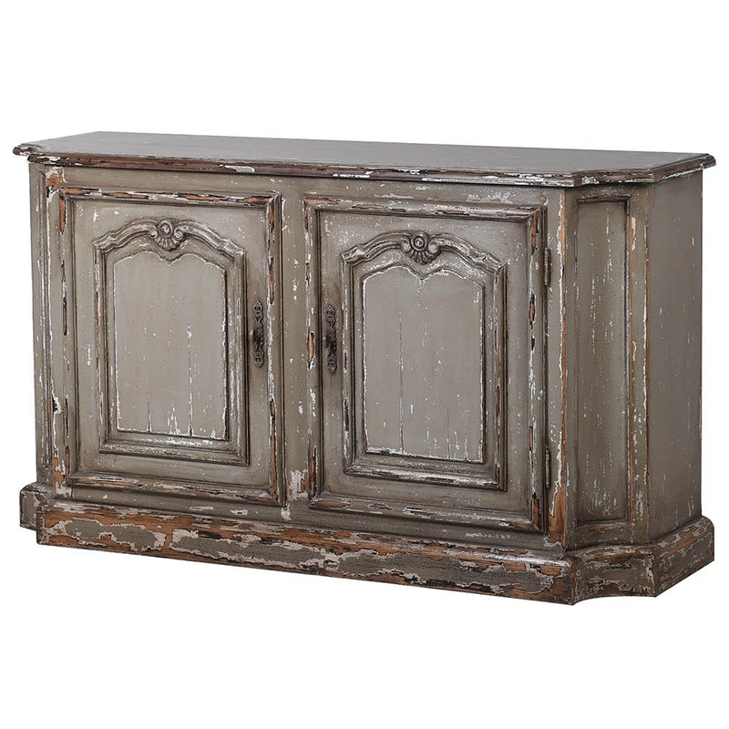 Distressed Painted 2 Door Sideboard