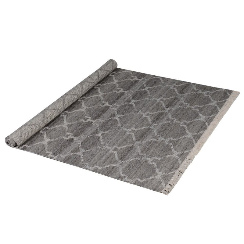 Grey Patterned Reversible Rug