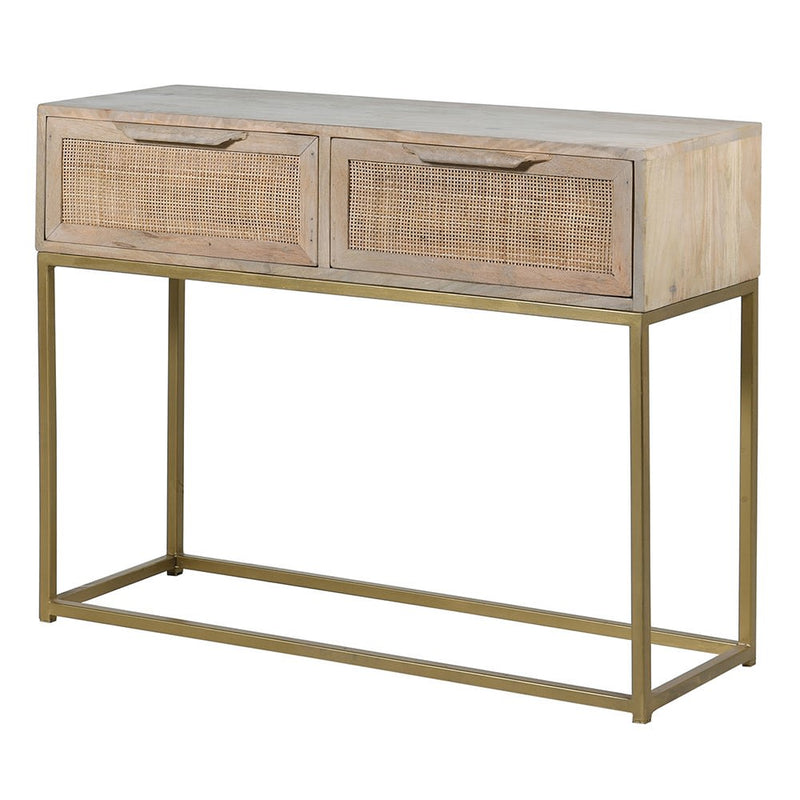 Mango And Cane 2 Drawer Console Table