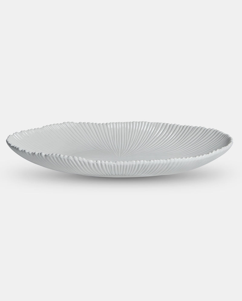 White Ceramic Serving Plate