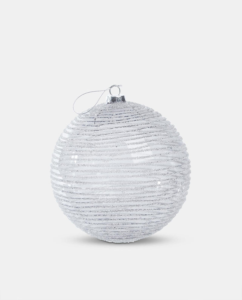 Stripe glass bauble