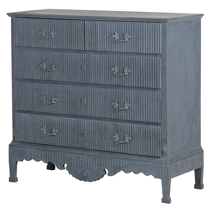 Washed blue chest of drawers