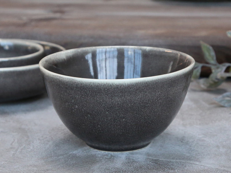 Rustic Glazed Grey Bowl