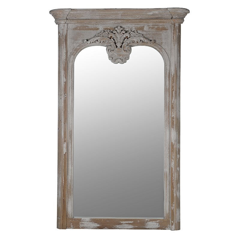 Distressed wooden ornate Mirror