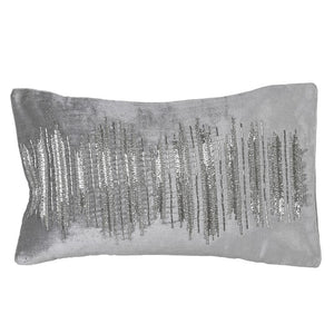 Grey Sparkle Bead Cushion