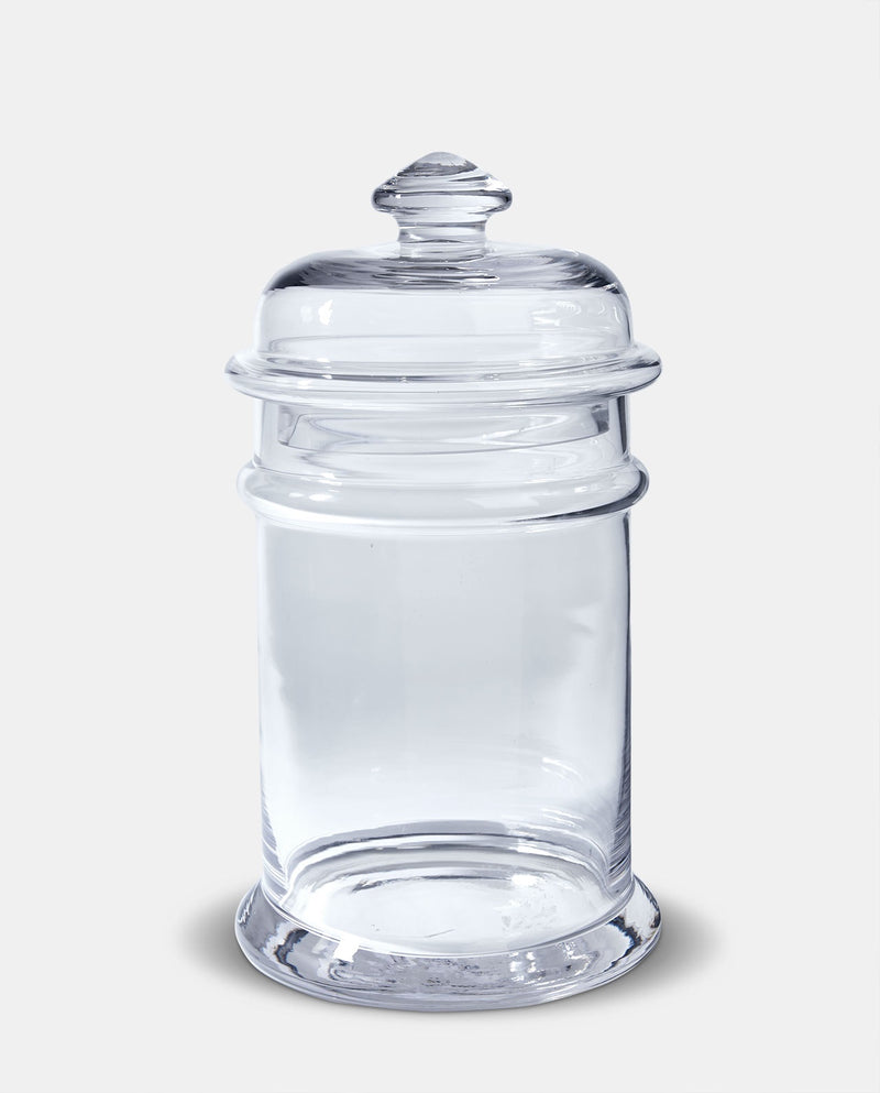 Tall Glass Apothecary Jar