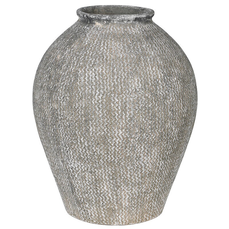 large textured woven vase