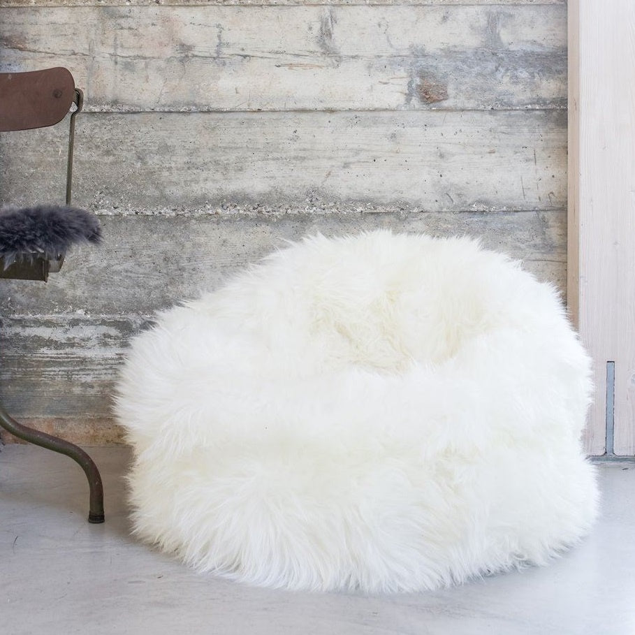 Small Sheepskin Beanbag Luxe