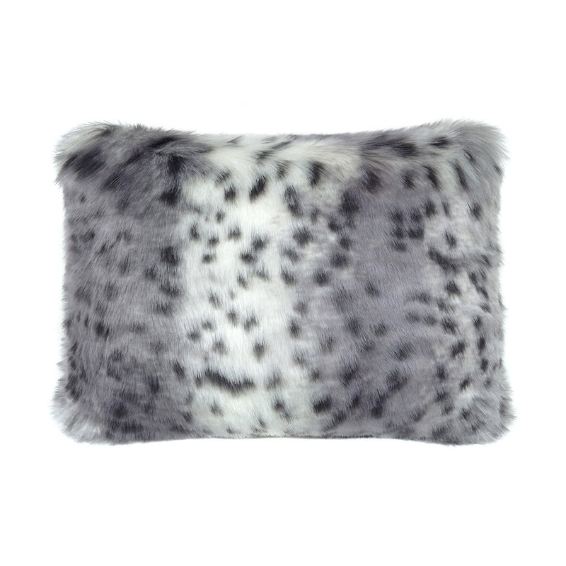 Artic leopard oblong cushion