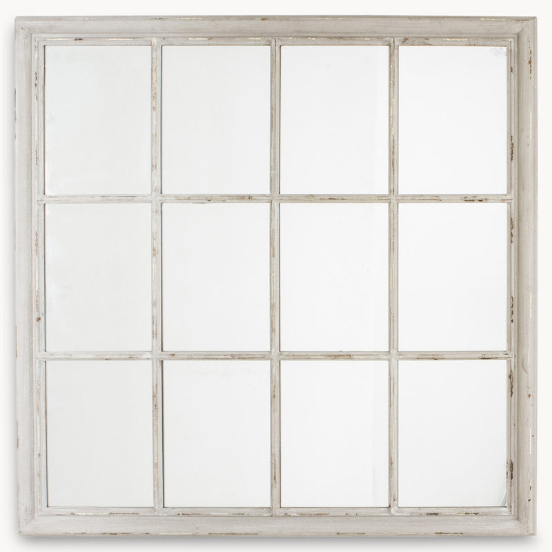 Square grey window mirror