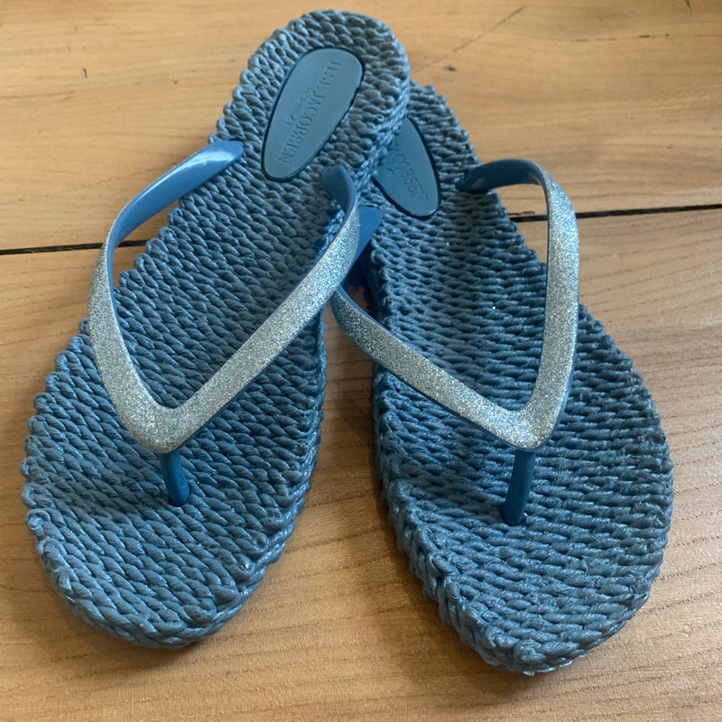 Denim Blue rubber flip flop