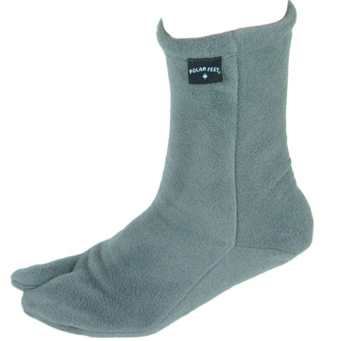 Polar Feet® Fleece Tabi Socken - soft grey