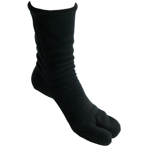 Polar Feet® Fleece Tabi Socken - schwarz