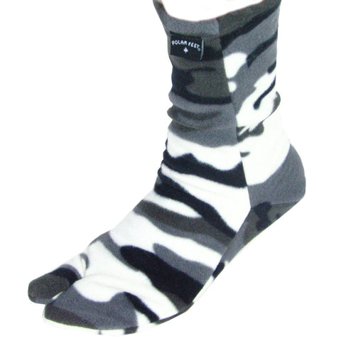 Polar Feet® Fleece Tabi Socken - snow camo
