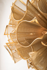 PULSE GOLD LEAF CHANDELIER THREE SIZES AVAILABLE