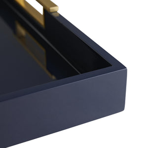 PARKER NAVY LACQUER LARGE TRAY