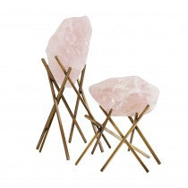 MARION ROSE QUARTZ TALL SCULPTURE