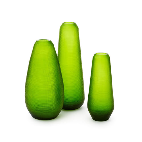 AMBROZE SET OF 3 VASES SPRING GREEN
