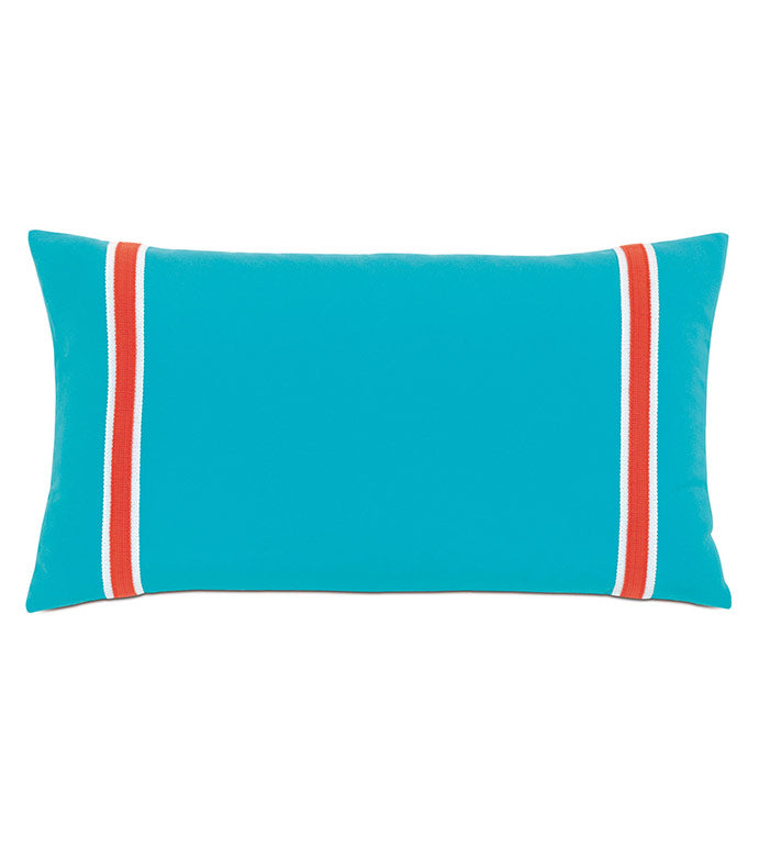 AVIVA SIDESTROKE POOLSIDE OUTDOOR THROW PILLOW