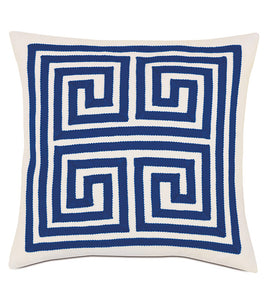 MEDITERRANEAN AZURE OUTDOOR THROW PILLOW