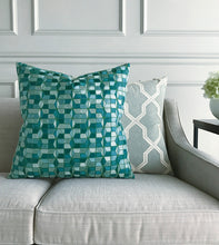 LABRYNTH TEAL DECORATIVE PILLOW
