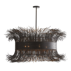 BLACK FILAMENT CHANDELIER