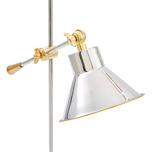LLOYD TABLE LAMP, NICKEL