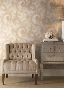 CANDICE OLSON MODERN ARTISAN ARABESQUE WALLPAPER BEIGE