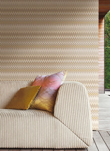 MISSONI HOME ZIG ZAG WALLPAPER HEATHER, DUSK, BERRY, AGEAN, SPRUCE, CASHMERE