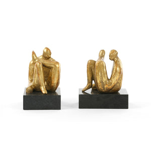 AMADEO SITTING STATUES IN GOLD
