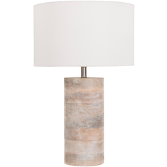 ARBOR BLEACHED WOOD TABLE LAMP