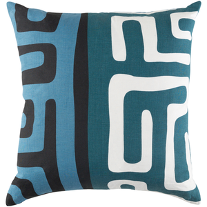 KENYA PILLOW IN FAWN, DUSK, NIGHT, TEAL, AND RUBY