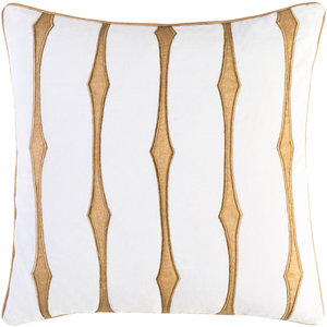 CANDICE OLSON GRAPHIC STRIPE PILLOW WHITE