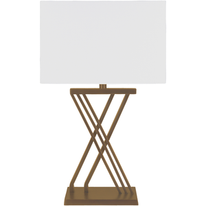 HARTLEY WIRED TABLE LAMP GOLD OR BRONZE