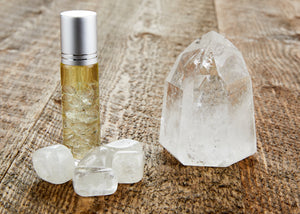 EARTH'S ELEMENTS ESSENTIAL OILS MANIFEST CRYSTAL ROLL-ONS