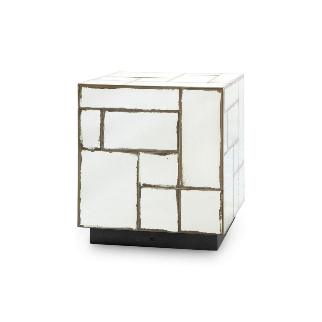 LEGER SIDE TABLE ANTIQUE MIRROR