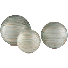 RONDURE GLASS GLOBES SET OF THREE