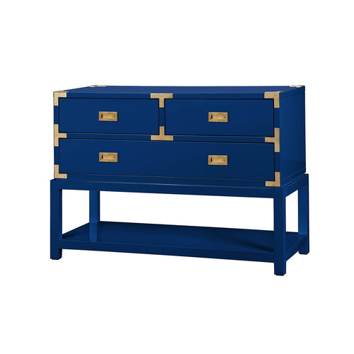 TANSU LACQUER CONSOLE IN NAVY BLUE OR WHITE