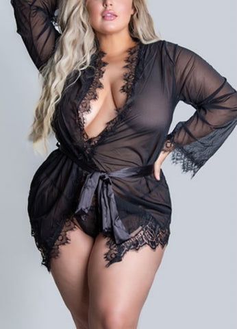 KATYA ROBE- BLACK