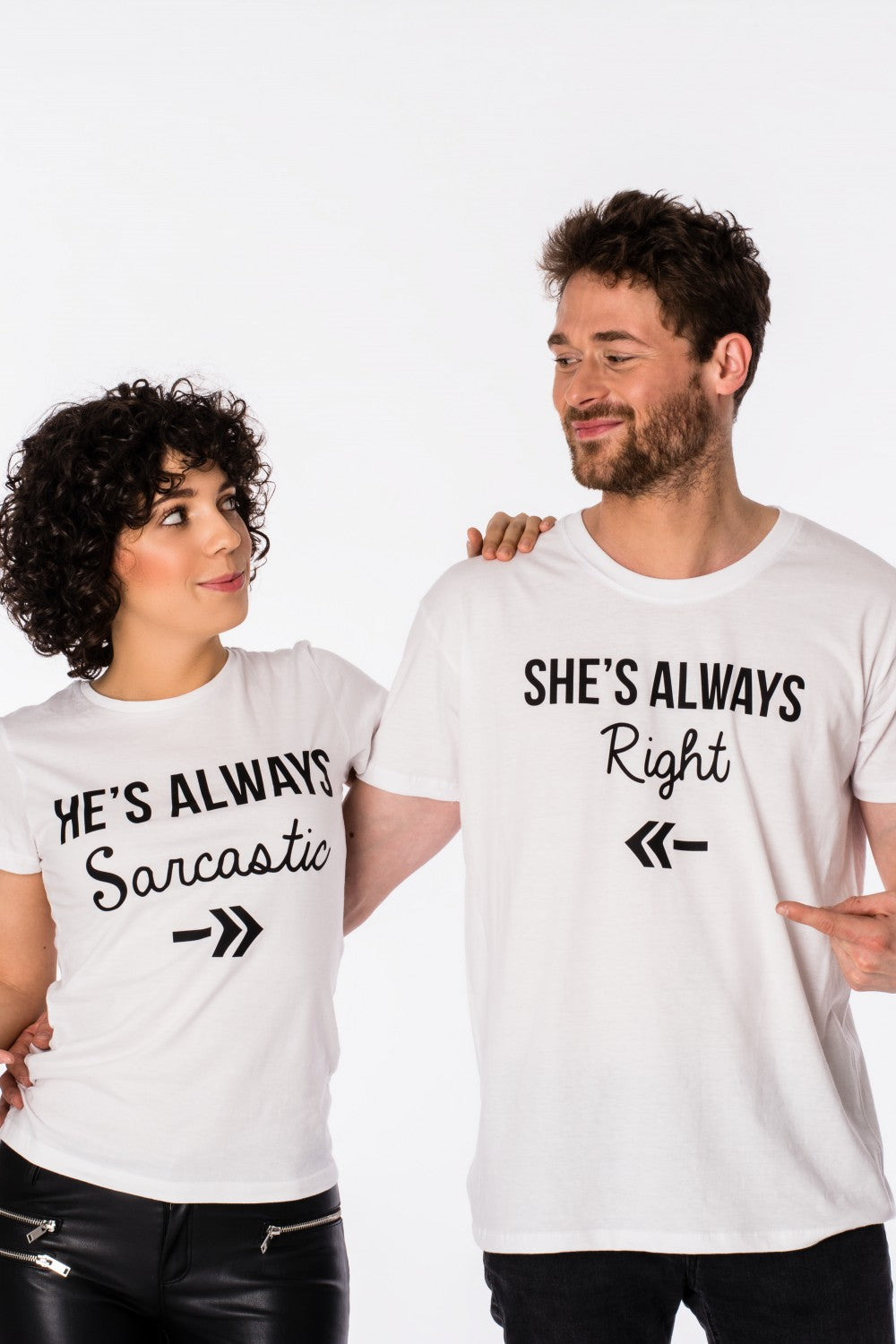 """Sarcastic - Right"" T-shirt for couples"