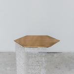 CALLIGRAPHY HEXA SIDE TABLE SHORT