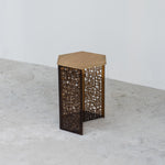 CALLIGRAPHY HEXA SIDE TABLE TALL