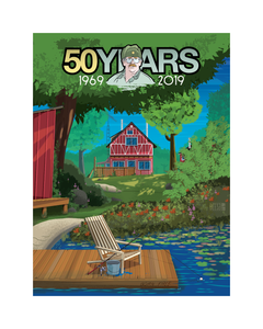 Sanders 50th Cabin Art Print