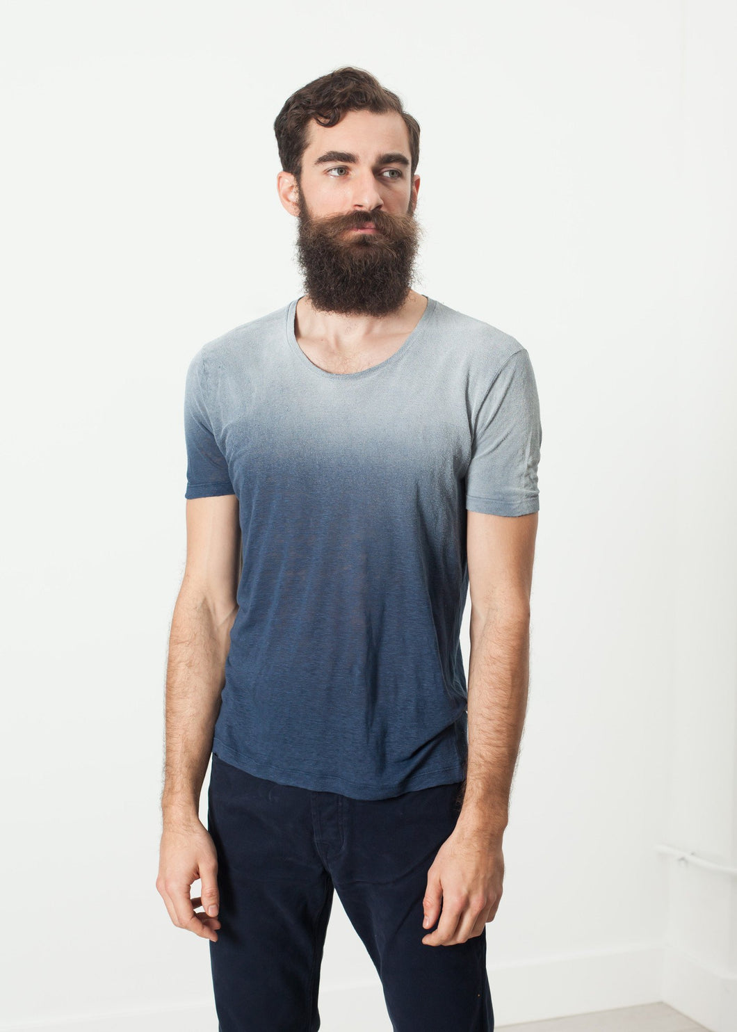 Overprint T-Shirt in Navy