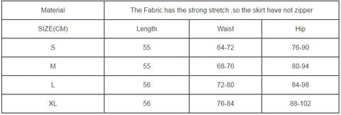 Size Chart For 6446 Gift Ideas Skirt